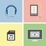 Music simple icon Royalty Free Stock Images
