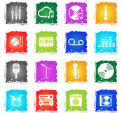 Music simply icons Royalty Free Stock Images