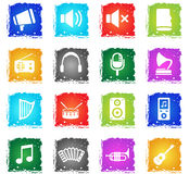 Music simply icons Stock Image