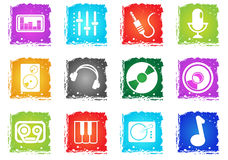 Music simply icons Royalty Free Stock Photography