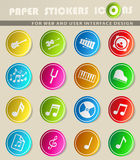 Music simply icons Royalty Free Stock Image