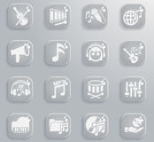 Music simply icons Royalty Free Stock Photo