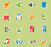 Music simply icons Royalty Free Stock Photos