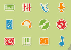 Music simply icons Stock Photography