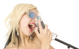 Music singer Royalty Free Stock Photos
