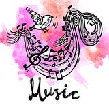 Music Sketch Background Stock Photo