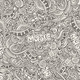 Music Sketchy Doodles. Hand-Drawn Vector Royalty Free Stock Photos