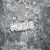 Music Sketchy Notebook Doodles. Hand-Drawn Vector Illustration Stock Image