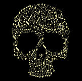 Music skull Stock Photography