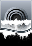 Music skyline grunge lined background Royalty Free Stock Photography
