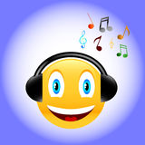 Music smile Royalty Free Stock Images