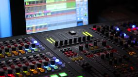 A Music software close up stock video footage