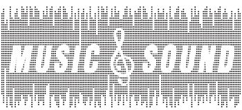 Music and sond. Text music and sound on background vector illustration