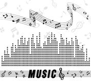 Music and sond. Text music and sound on background Royalty Free Stock Photos