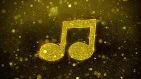Music Song Chord Icon Golden Glitter Shine Particles. Music Song Chord Icon Golden Glitter Glowing Lights Shine Particles. Object, Shape, Web, Design, Element vector illustration