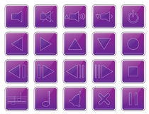 Music and sound buttons Stock Photography