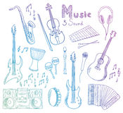 Music and sound collection Stock Photo