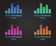 Music sound colorfull waves vector illustration