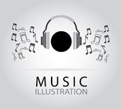 Music and sound design Stock Image