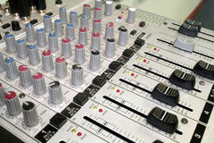 Music Sound Equipment. Sound mixer that was part of the PA system Stock Photos