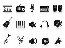 Music sound equipment icon. Isolated music sound equipment icon on white background Royalty Free Stock Images