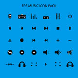 Music sound icon pack flat icon Royalty Free Stock Image