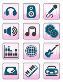 Music and sound icons Stock Photo