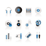 Music and sound icons Stock Photography