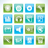 Music and sound Icons Royalty Free Stock Images