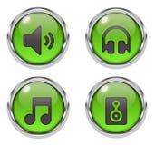 Music sound icons Royalty Free Stock Photos