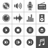 Music and sound icons - Simplus series Stock Photos