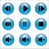 Music and sound icons. Vector illustration EPS10 Royalty Free Stock Photo