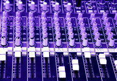 Music sound mixer mixing console Stock Images