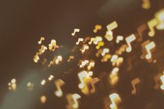 Music, sound and notes abstract blur background Stock Photos