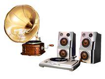 Music and sound old and new Royalty Free Stock Images