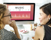 Music Sound Player Entertainment Multimedia Graphic Concept Royalty Free Stock Photo