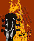 Music sound poster Stock Image