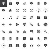 Music and sound vector icons set royalty free stock image