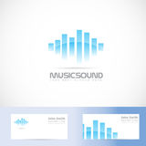 Music sound volume logo Royalty Free Stock Image