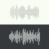 Music sound wave. Vector icon. Audio technology, musical pulse. Waveform line Royalty Free Stock Images