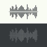 Music sound wave. Vector icon. Audio technology, musical pulse. Waveform line Stock Photos