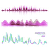 Music Sound Waves Pulse Abstract Vector. Digital Frequency Track Equalizer Illustration Stock Image
