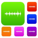 Music sound waves set collection Stock Photography