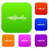 Music sound waves set collection Royalty Free Stock Image