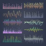 Music Sound Waves Vector. Classic Sound Wave From Equalizer. Audio Technology, Musical Pulse. Illustration vector illustration
