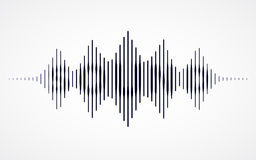 Music sound waves. On white background. RGB Global color Royalty Free Stock Photo