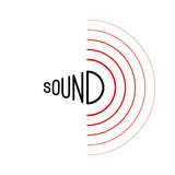 Music sound waves. On white background. RGB Global color Royalty Free Stock Photos
