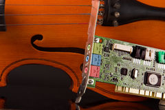 Music soundcard Stock Photo