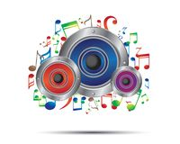 Music and sounds. Illustration design Stock Photography