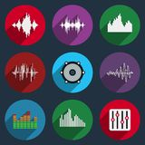 Music soundwave icons Royalty Free Stock Images